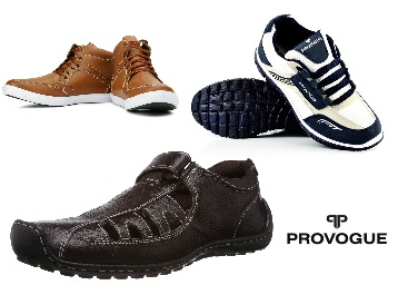 STEAL DEAL : Provogue Men Footwear Minimum 50% Off From Just Rs. 619 discount deal
