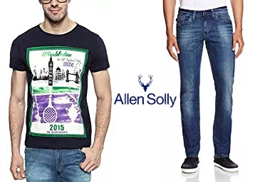 Allen Solly Clothing 50% off or more from Rs. 210 + FREE SHIPPING discount deal