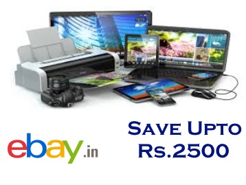 Shop on Ebay & Get Flat 12% OFF Site wide (Max. Rs. 2500) + Free Shipping* !! Proof Added !!