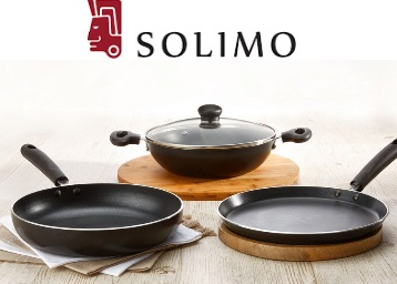 Get solimo Non-Stick 3- Piece Kitchen Set + Extra 20% Cashback low price
