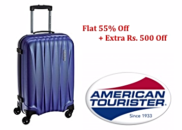 STEAL : American Tourister Entire Range Flat 55% Off + Extra Rs.500 Off + FREE Shipping low price