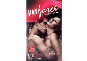 Man Force Extra Dotted Condoms Pack of 10 at Just Rs.70 + Free Shipping discount deal