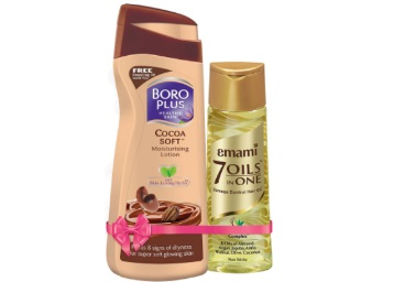 Limited Stock:- Boroplus Cocoa Soft Lotion + FREE Emami Hair Oil @ Rs 32 low price