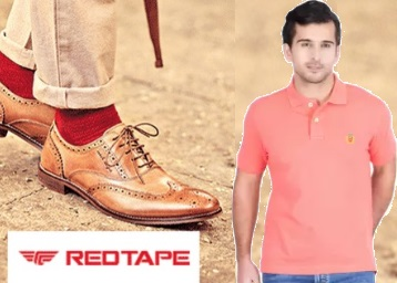 Steal:- FLAT 60%- 70% off on Red Tape Footwear & Clothing + Extra 10% Discount discount deal