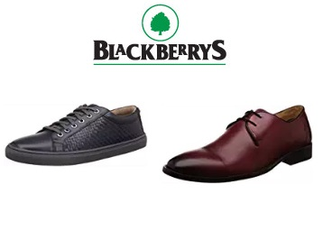 BUMPER : Blackberry Shoes Flat 75%Off + 15%Cashback Up To Rs. 180 + FREE Shipping discount offer