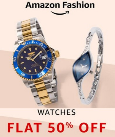 STEAL : Top Brands Watches Flat 50% Off From Rs. 358 + 15% Cashback + FREE Shipping low price
