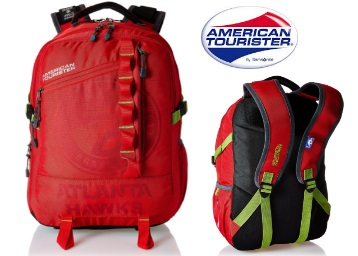 Get American Tourister Polyester 32 Ltrs Red Laptop Backpack a just Rs.977 + Free Shipping low price