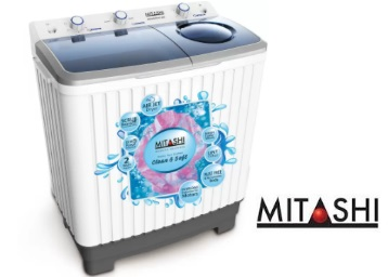 Mitashi 6.5 kg Semi Automatic Top Load Washing Machine From Rs. 7499 discount deal