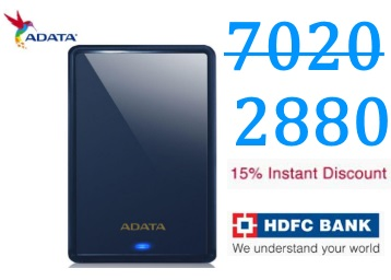 Loot Price:- ADATA 1 TB External Hard Disk at Just Rs. 2880 + 15% Discount discount deal