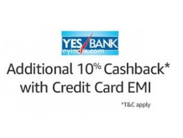 Get 10% Cashback(Max.2000) By Yes Bank Credit Card EMI On Purchasing Large Appliances low price