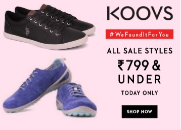 Today only : Get Men's Footwear Under Rs.799 + Extra 30% OFF + FREE shipping low price