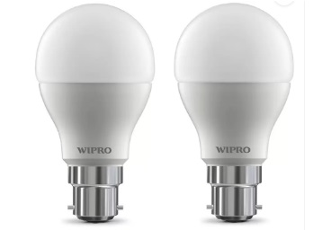 Flat 73% Off : Wipro 10 W B22 LED Bulb (White, Pack of 2) at Rs, 295 + FREE Shipping low price