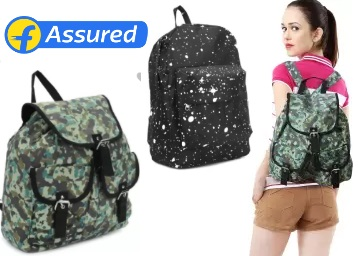 Bumper Price:- People Backpack at FLAT 80% Off + Free Shipping + Flipkart Assured discount deal