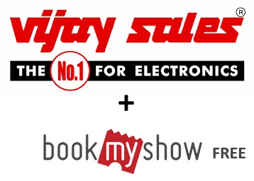Get BookMyShow Voucher 1500/- on next purchase at Vijay sales discount deal