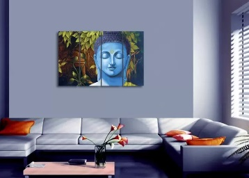 For Your Home : SAF Buddha Premium Large Painting at Flat 81% Off + FREE Shipping discount deal