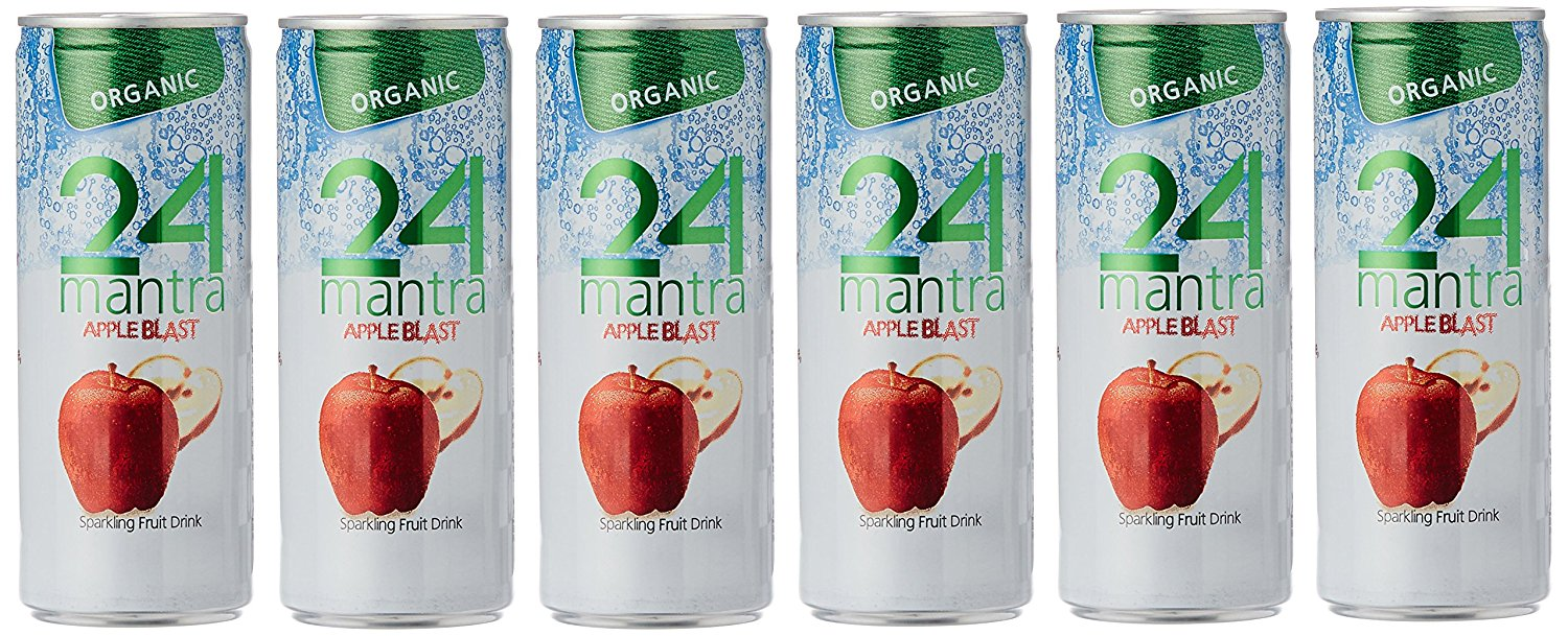 24 Mantra Organic Apple Blast, 250ml (Pack of 6) at Just Rs.160 discount deal