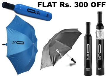 Rain Proof:- Stybuzz Polyester Bottle Umbrella at Extra Rs. 300 OFF + Free Shipping discount offer