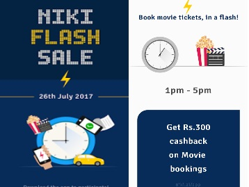 Niki Flash Sale – Exciting Cashbacks on Recharges, Movie and Much More low price