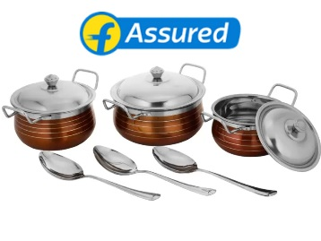 Classic Essentials Cookware Set at Flat 61% Off + 15% Cashback + Free Shipping discount deal