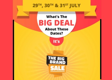 Mark The Dates : Big Brand Sale Get Up to 80% Off On Top Brands + Win A Oneplus 5 & More Offers discount deal