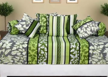 Supreme Premium : 1 Bedsheet + 2 Bolster Cover + 5 Cushion Cover at Flat Rs. 486 {Flipkart Assured} low price