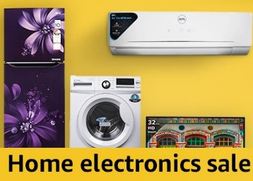 Amazon Home Electronics Blockbuster Sale : Get Up to 40% Off + 10% Cashback discount deal