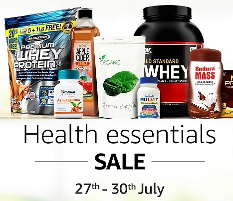 Amazon Health Essentials Sale : Get Up to 50% Off Health & Diet Suppliments discount offer