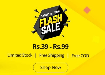 Shopclues Flash Sale – All Products Under Rs. 99 + Free Shipping + Free COD discount offer