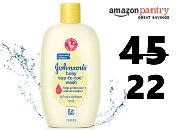 Johnson's Baby Top To Toe Wash (50ml) (Sample) at Rs. 22 discount deal