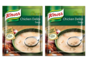 Get Knorr Classic Chicken Delite Soup, 44g (Pack of 2) at just Rs.46 low price