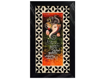Get DivineCrafts Ganesha Textured Canvas Painting at just Rs.221 + FREE shipping discount deal