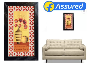 Steal Deal : DivineCrafts Floral Canvas Painting at Just Rs. 184 {Frame Included} discount deal