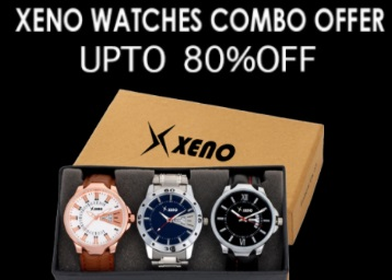 STEAL DEAL : Xeno Watches Combo Offer [Minimum 70% OFF] From Rs. 329 low price