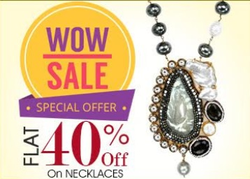 Rakhi Special:- Get FLAT 40% OFF on Necklaces Jewellery low price