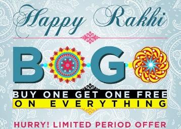 Abof Rakhi Bonanza : Buy 1 Get 1 Free + Get Rs. 200 On Sign Up + FREE Shipping low price