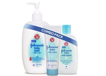 {17% Claimed}:- Johnson's Baby Nourishing Milk Combo at FLAT 40% OFF + Free Shipping discount deal