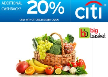 BigBasket Cashback discount offer