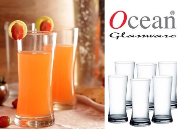 Rakhi Gift:- Ocean Tango Hi Ball Tumblers – Set of 6 at Just Rs. 316 + Free Shipping low price