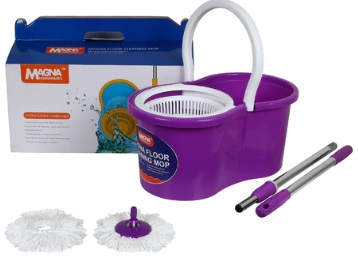 Limited Stocks:- Magna 360 Degree Spin Cleaning Mop Set at Just Rs. 609 + Free Shipping discount deal