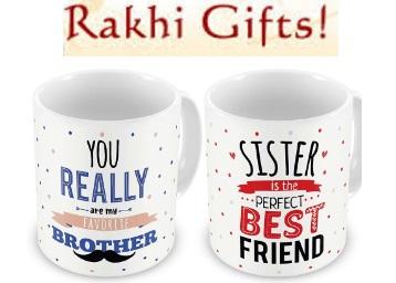 Rakhi Gifts : Get Combo Of 2 Mug at Flat 54% Off + Extra 10% Cashback low price