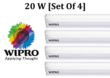 Wipro Garnet Warm White 20 W LED Battens [ Set of 4 ] at Rs. 1495 + FREE Shipping discount deal