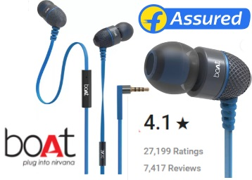 {27,198+ 4* Ratings}:- boAt BassHeads 220 Headset with Mic at Just Rs. 549 discount deal