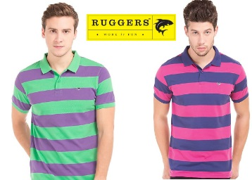 STEAL OFFER : Ruggers Polo T-Shirts From Just Rs.250 + FREE Shipping Available low price