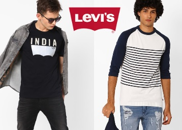 Get Flat 40-60% Off On Levis Clothing From Rs. 480 + FREE SHIPPING discount deal