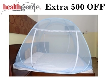STEAL PRICE : Healthgenie Single Bed Polyester Mosquito Net at Just Rs. 696 + FREE Shipping low price