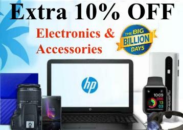 FlipKart Electronics & Accessories Deals at 10% Instant Discount discount deal