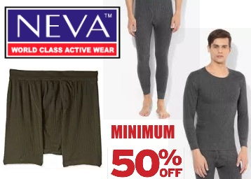 Winter Ready:- NEVA Thermal Wears at Min. 50% OFF, starts at Rs. 100 + Free Shipping low price