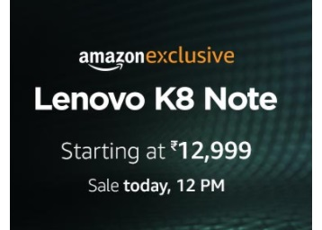Live : Killer Performance Smartphone Lenovo k8 Note From Rs. 12999 low price