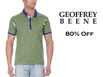 {Limited Stock} Geoffrey Beene Men's Polo T-shirt at Flat 80% Off + Free Shipping low price
