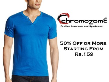 Buy Chromozome T-Shirts at Just Rs. 159 + FREE Shipping
